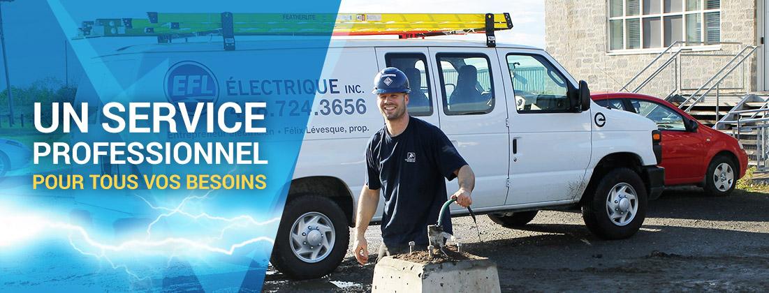 Un service professionnel pour tous vos besoins  - EFL Électrique inc. à Rimouski